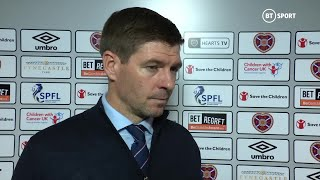 """""""We were NOT good enough today"""" Steven Gerrard reacts to Hearts 1-1 Rangers"""