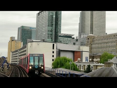 London. Riding the DLR Train from Bank to Woolwich Arsenal via London City Airport