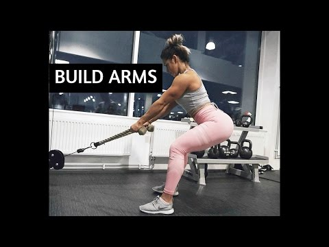 5 EXERCISES FOR BIGGER BICEPS AND TRICEPS | ARMS WORKOUT ♡  Follow me to the gym ♡