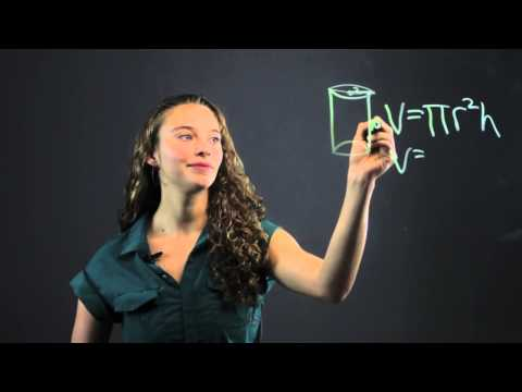 How to Get the Volume of a Cylinder Filled With Water : Math Made Easy
