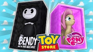 Minecraft TOYSTORE: MY LITTLE PONY VS BENDY w/Little Carly, Little Kelly and Tiny Turtle.
