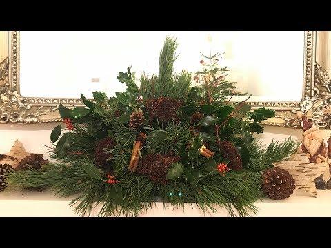 HOME MADE FIREPLACE CHRISTMAS DECORATION