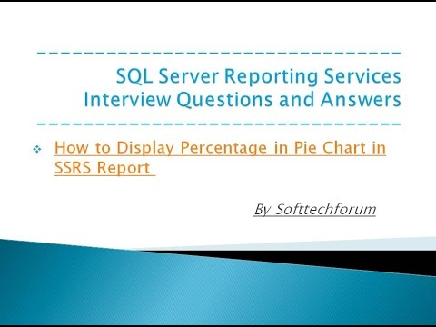 How to Display Percentage in Pie Chart in SSRS Report