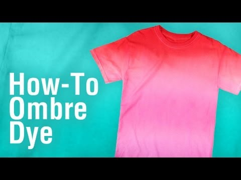 DIY Ombre Tie-Dye Technique using Tulip One-Step Dye!