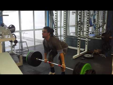 Clean pull, below knee 135kg x5