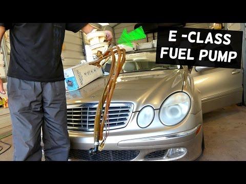 MERCEDES W211 FUEL PUMP REMOVAL AND REPLACEMENT E200 E230 E240 E280 E320 E350 E500 E550 E55 E63