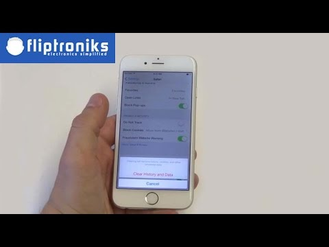Apple Iphone 6: How To Delete Internet Browsing History - Fliptroniks.com