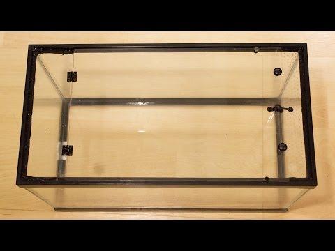DIY 10g Aquarium to Vertical Vivarium Conversion - pt.1 Conversion