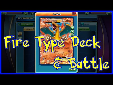 Fire Type Deck and Battle! Pokemon Trading Card Game Online!