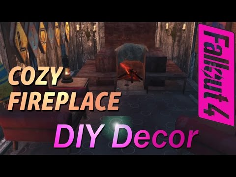 Fallout 4 - Build a Cozy Fireplace! - and Other Assorted Useful Decorations