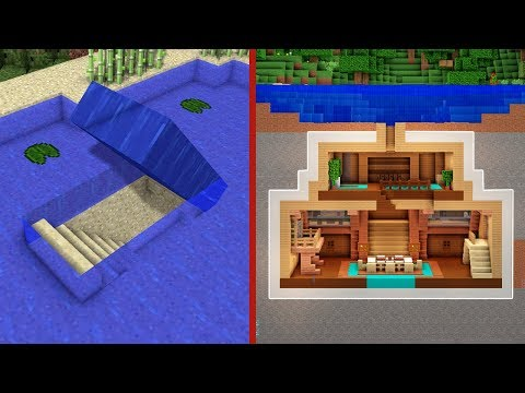 Minecraft: How to Build An Underwater Secret Base Tutorial (#2) - (Hidden House)
