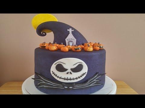 Nightmare Before Christmas Halloween Cake Tutorial