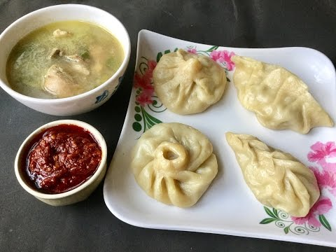 Steamed Chicken Momos With Soup | Chicken Dim Sum | Chinese Momo Recipe - In Bengali