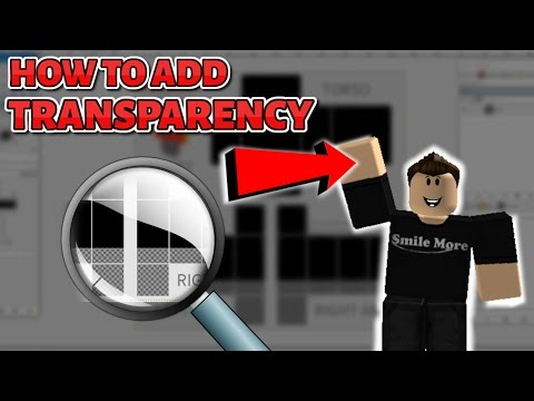 How to add Transparency (SHOW SKIN) on a ROBLOX Shirt/Pants 2017! (FREE using Gimp)