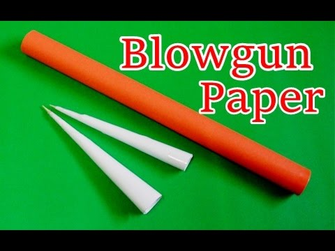 How To Make A Blowgun With Paper Easy