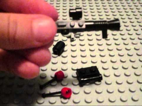 Lego - How to make a Lego Minigun,Machinegun and Chaingun
