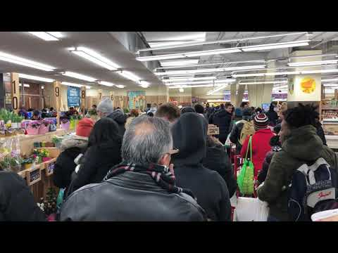 not the best way to spend Friday night, Trader Joe's, Brooklyn, New York (3-16-18)