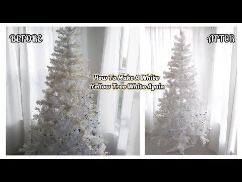 How To Make A White Yellow Tree White Again 🎄
