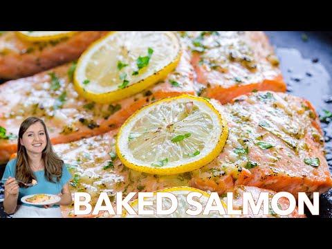 Dinner: Baked Salmon with Garlic and Dijon - Natasha's Kitchen
