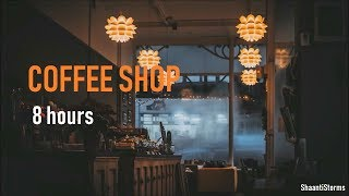 Download Rainy Day at the Coffee Shop Ambiance - 8 Hours of Rain, background chatter and Jazz Music Video