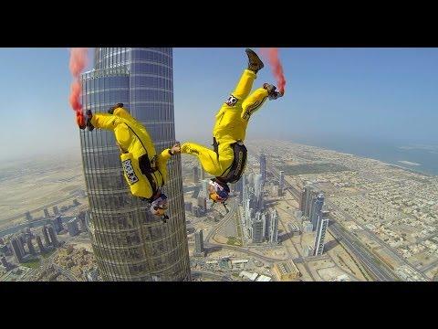 Burj Khalifa Pinnacle BASE Jump - 4K