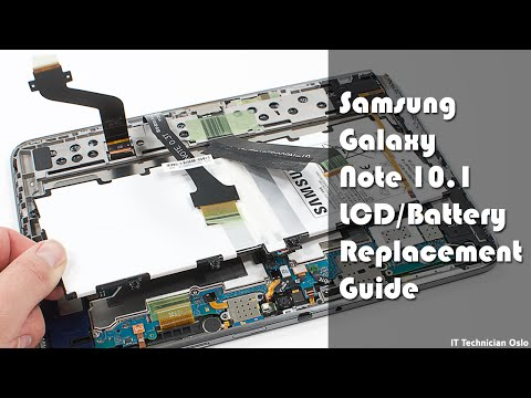 Samsung Galaxy Note 10.1 N8000/N8010/N8013 LCD Battery replacement - Disassembly & Assembly
