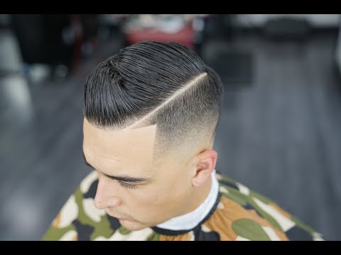 The Perfect Comb Over | Skin Fade | hard part