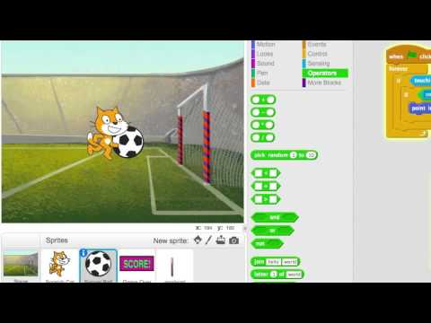 Making a (very simple) soccer game on Scratch 2.0