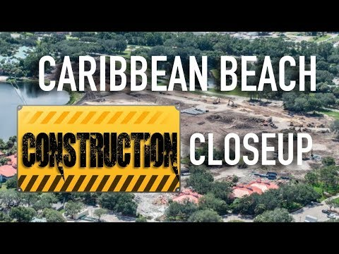 Caribbean Beach Construction Close-Up