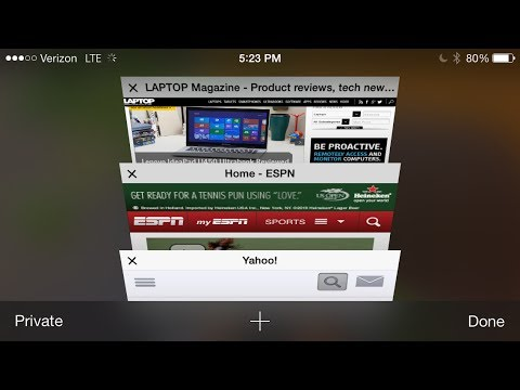 Close all tabs in Safari browser