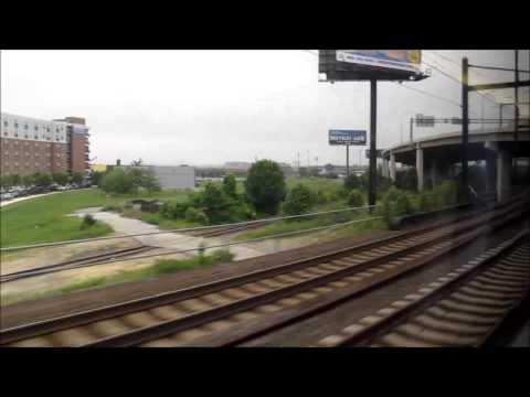 Train ride from Penn Station (New York) to Union Station (Washington DC), USA.