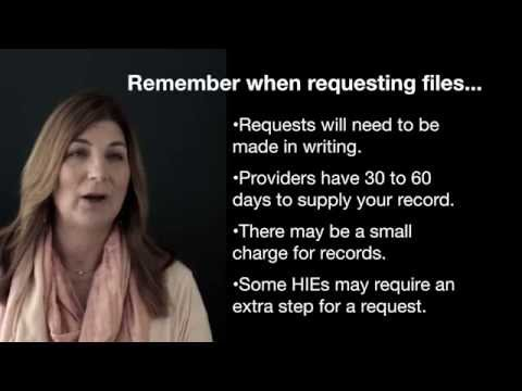How to request all medical records that have been exchanged in an HIE