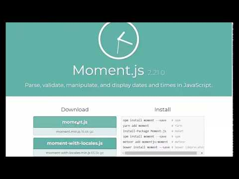 JavaScript Time And Dates Formats Using Moment.js JavaScript Library