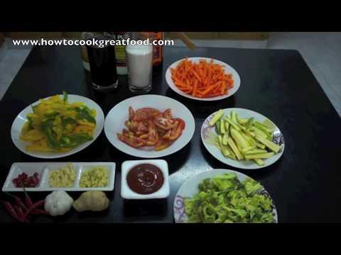Sweet n Sour Vegetables Recipe - Veggy Vegan Chinese