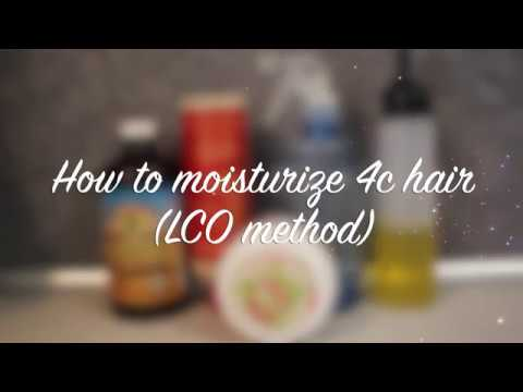HOW TO MOISTURIZE DRY, MATTED 4C HAIR (LCO METHOD)