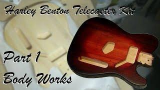 Harley Benton Telecaster Kit - Part 2 Shaping the Headstock