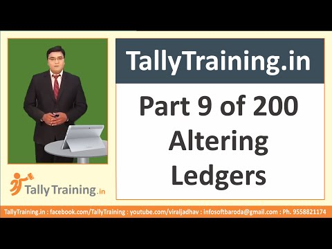 Module 2 | Session 4 | Alter and Delete a Ledger | Learn Tally ERP 9 in Hindi