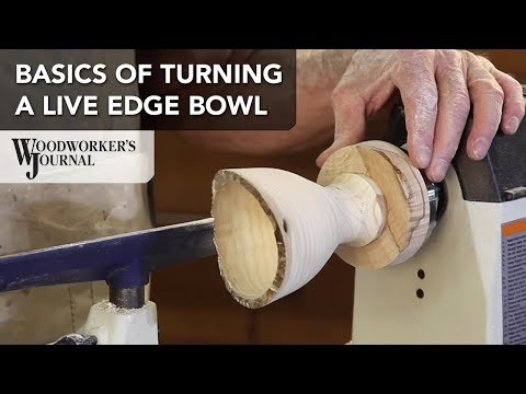 Turning a Natural Edge Bowl | Woodturning Project