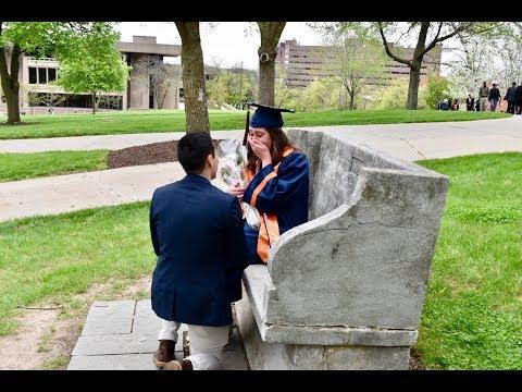 Syracuse University graduate surprised with proposal