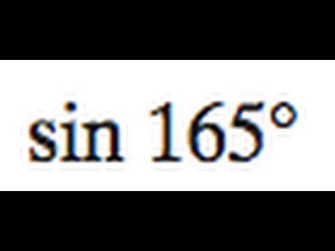 sin 165 degrees