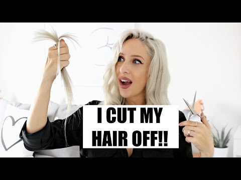 I CUT MY OWN HAIR OFF - AT HOME! | Carly Musleh
