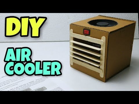How to Make Powerful Mini AC at home | How to make Air conditioner From Cardboard