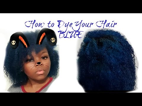 How to Dye Your Natural Hair Blue | Curly Tanae