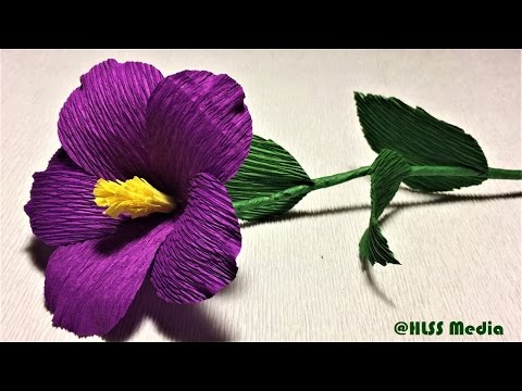 How to make beautiful purple nierembergia paper flower|diy easy origami crepe paper flower making