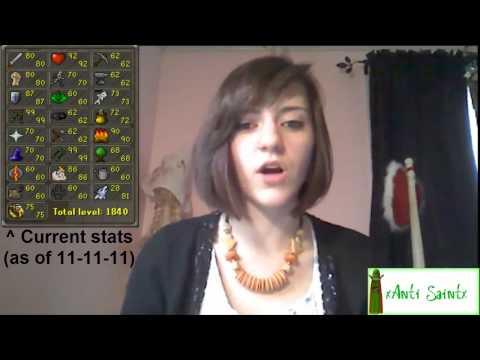 Girls Play RuneScape?! xAnti Saintx Runescape and IRL monthly VLog #2