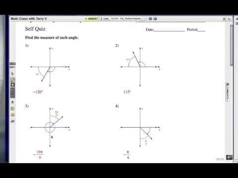 Solving Trig Equations with the Unit Circle: Self Quiz 1