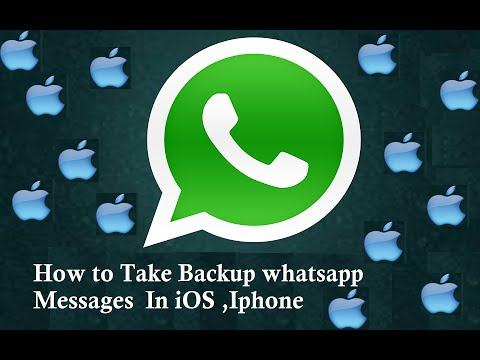 How To Take Backup of Whatsapp massages on iOs