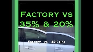 Window Tint Before And After 35 And 20 On White Car