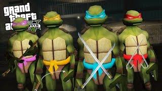 TEENAGE MUTANT NINJA TURTLES IN GTA 5!! (GTA 5 Mods Gameplay)