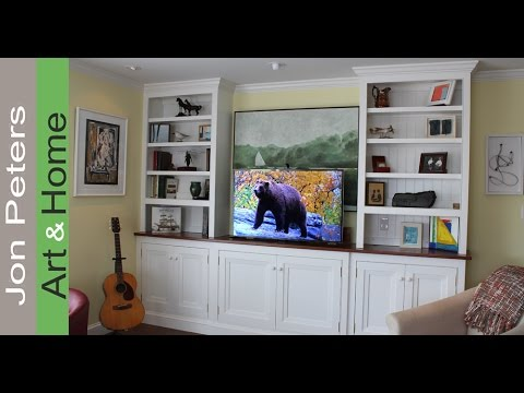 How To Build a TV Lift Cabinet - Finished & Installed